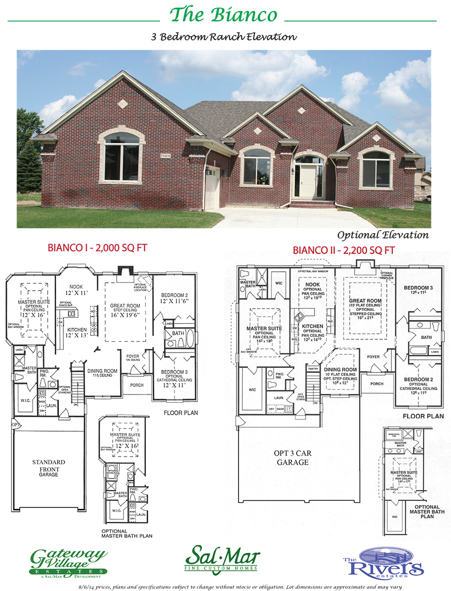 New construction gateway village estates salmar for Home building companies in michigan